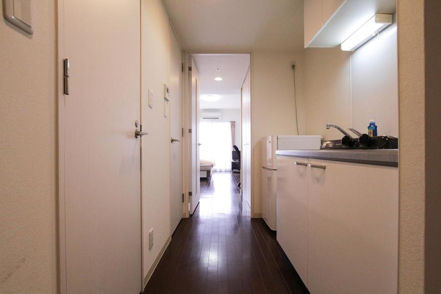 玄関からお部屋までは段差のないタイプ。つまづく心配もありません