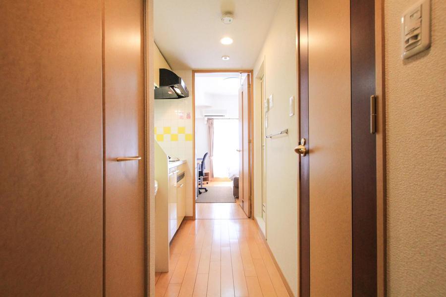 玄関からお部屋までは段差がなく、足元も安心です