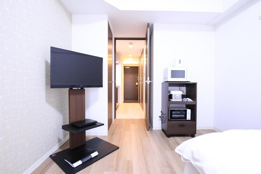 お部屋には扉も設置。室温管理はもちろんプライバシー確保にも!