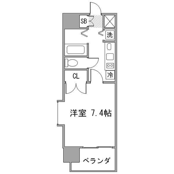 【30室限定ポッキリ割】クラステイ伏見-1の間取り