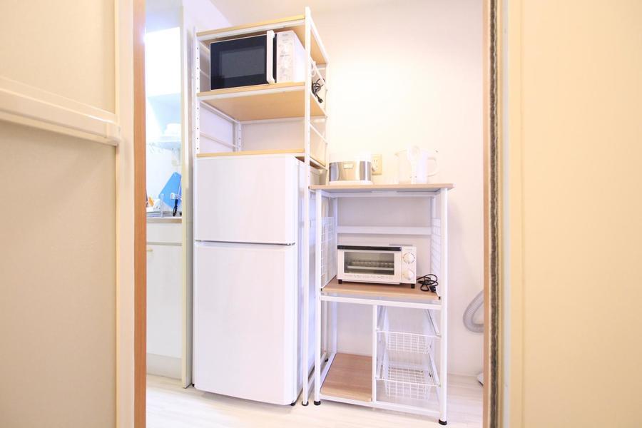 ラックの空きスペースは食品のストック置き場としてもご活用いただけます