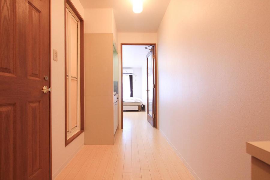 玄関からお部屋までは段差がなくフラット。つまづく心配もありません