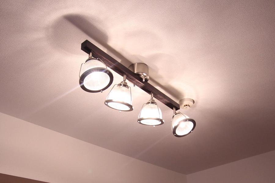 室内照明はシーリングスポットタイプ。日々の生活を明るく照らし出します