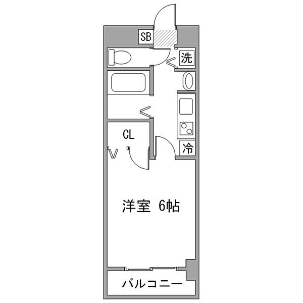 クラステイ名古屋駅6の間取り