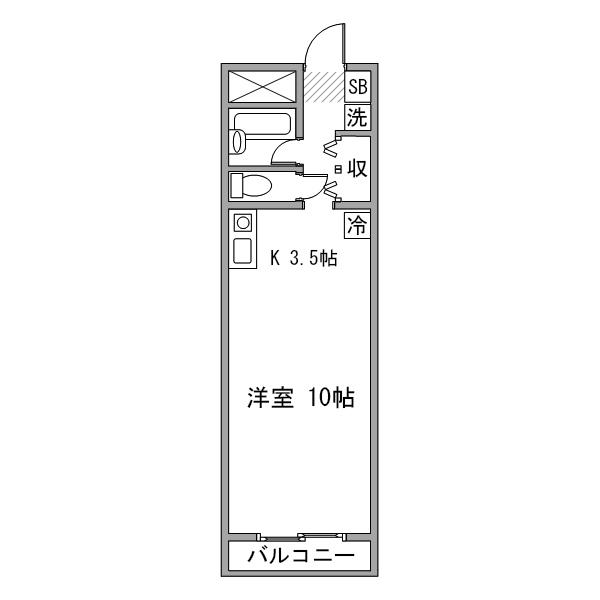 【タンキ割】ルーレント豊田市駅5-1の間取り