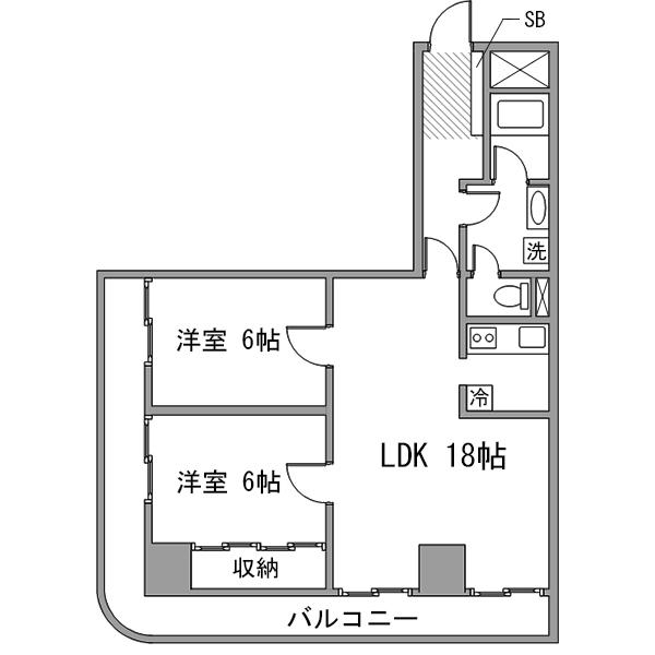 ルーレント豊田市駅5-2の間取り