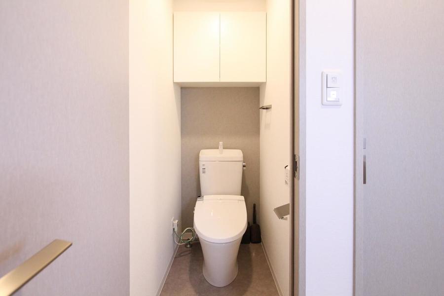 トイレは人気のセパレートタイプ。シャワートイレ完備です