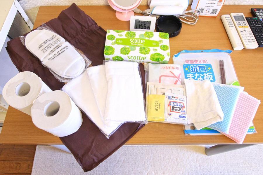 アメニティとしてご入居後すぐに必要となる日用品をご用意しています