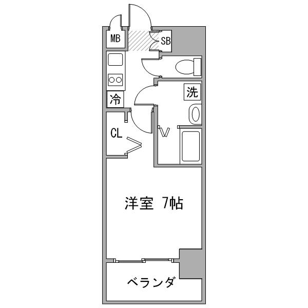 クラステイ名古屋駅東2の間取り