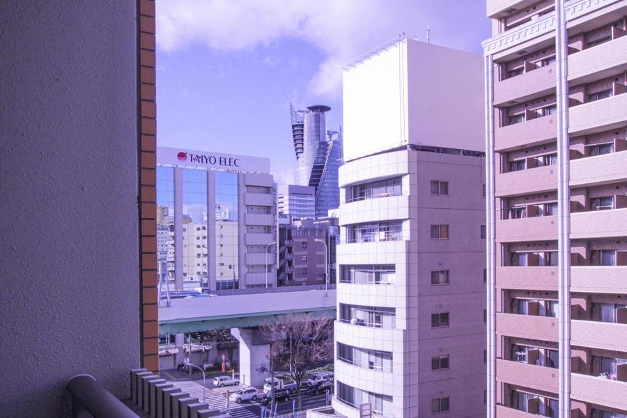 ベランダからは名古屋駅方面が望めます