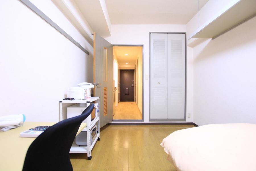 仕切り戸はプライバシー保護や室温管理にご利用いただけます