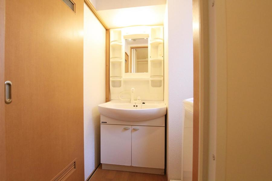 毎日使う洗面台は嬉しいシャンプードレッサータイプ