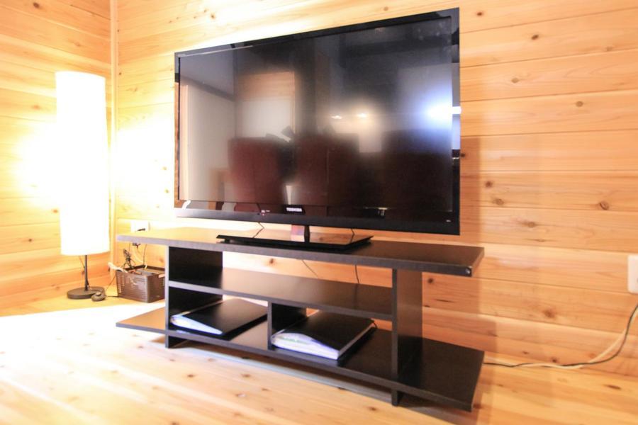 テレビは大型液晶タイプを配置。もちろんネット環境も完備しております