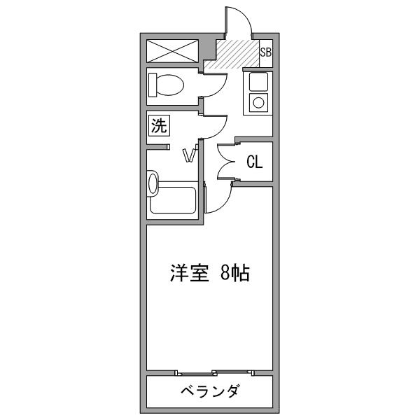 【カケコミ割】ルーレント上小田井3の間取り