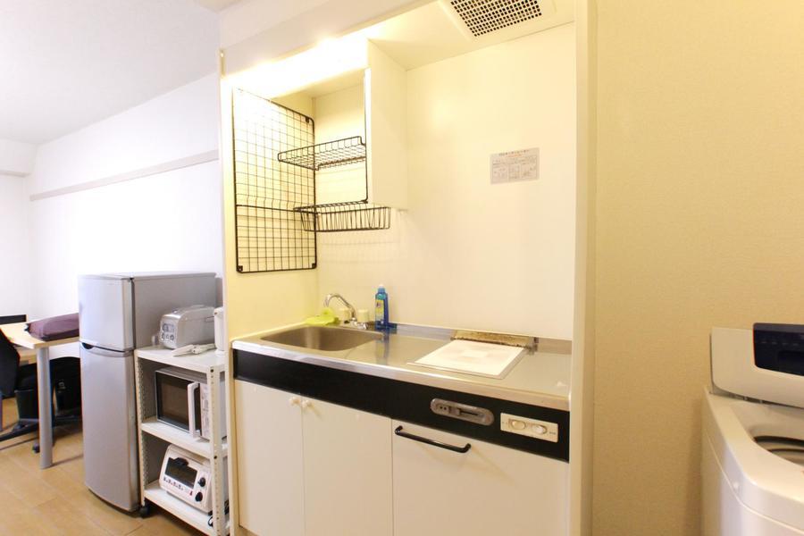 キッチンはIHコンロを搭載。作業スペースも広くお料理もはかどります