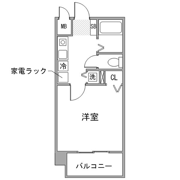 クラステイ栄南m-2【ダブルベッド】の間取り