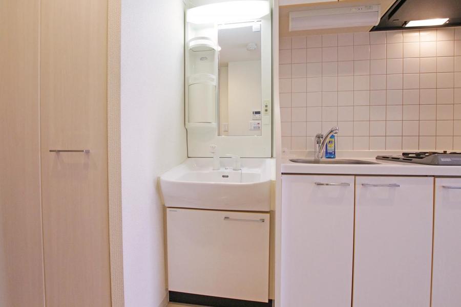 毎日の身だしなみチェックに欠かせない洗面台はシャンプードレッサータイプ