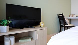 液晶テレビは全室32インチ