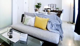 全客室にソファ完備