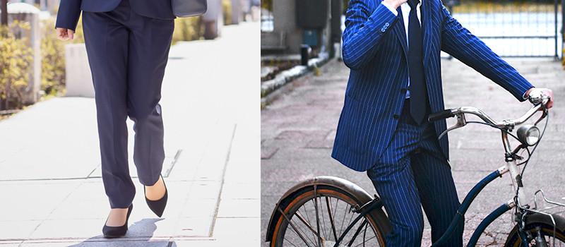通勤は自転車か徒歩でする